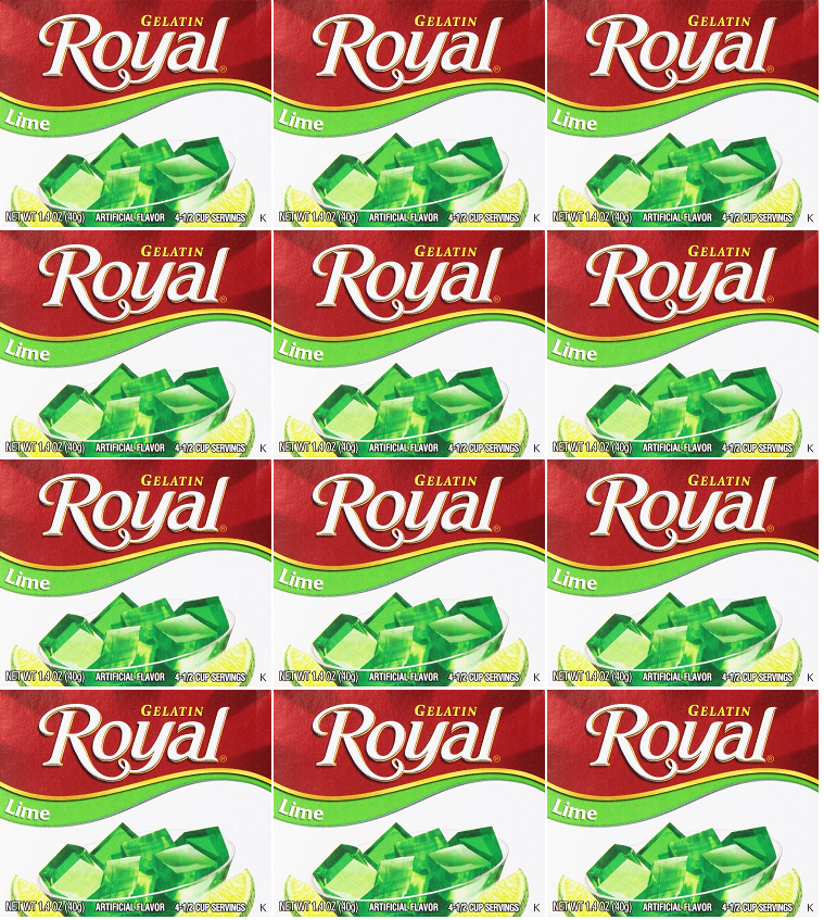 Royal Lime Gelatin, 1.41 oz (Pack of 12)