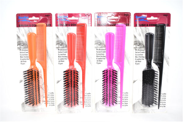 Comb and Hair Brush Set, 2-ct. (1 pack)