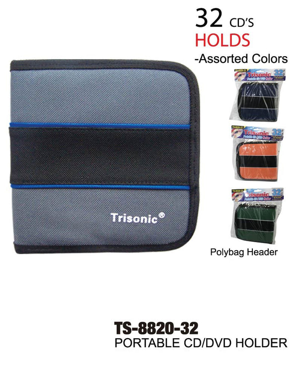 Portable CD/DVD Holder, Holds 32, 1-ct.