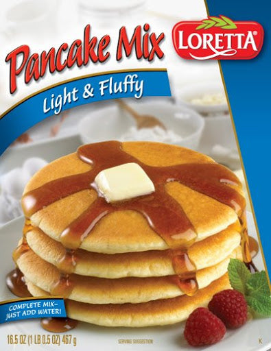 Loretta Pancake Mix Light & Fluffy, 16.5 oz