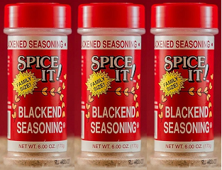 Spice It Family Size Blackend Seasoning, 6 oz (Pack of 3)