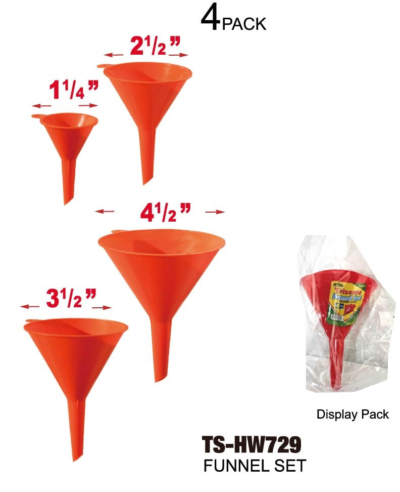 Funnel Set, 4-ct.