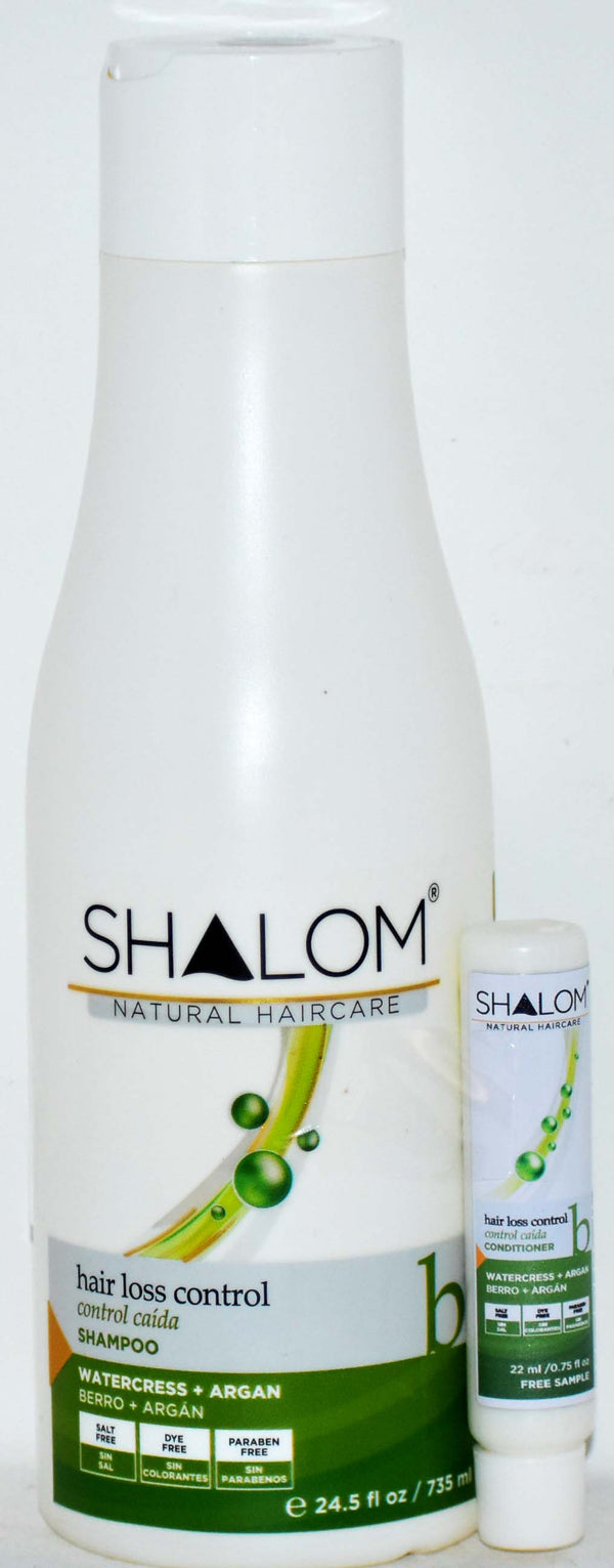 Shalom Natural Haircare Hair Loss Control Watercress + Argan with Free Sample