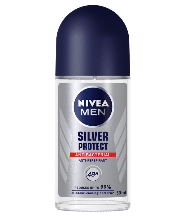 Nivea Men Silver Protect Antibacterial Anti-Perspirant Deo Roll on, 50 ml