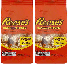 Reese's Miniature Cups Milk Chocolate and Peanut Butter, 12 oz (Pack of 2)
