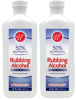 50% Isopropyl Rubbing Alcohol, 12 fl oz. (Pack of 2)