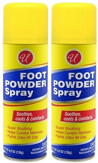 Foot Powder Spray, 4.8 oz (Pack of 2)