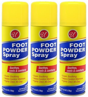 Foot Powder Spray, 4.8 oz (Pack of 3)