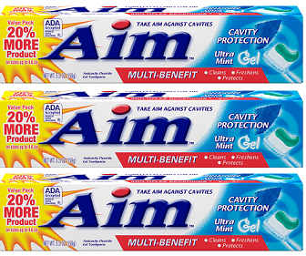 Aim Cavity Protection Ultra Mint Paste Toothpaste, 5.5 oz. (Pack of 3)