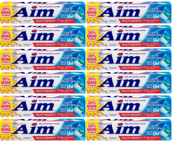Aim Cavity Protection Ultra Mint Paste Toothpaste, 5.5 oz. (Pack of 12)