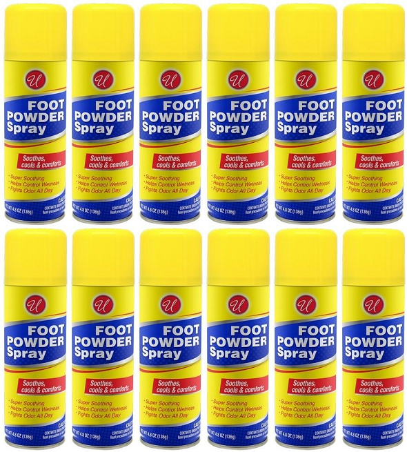 Foot Powder Spray, 4.8 oz (Pack of 12)