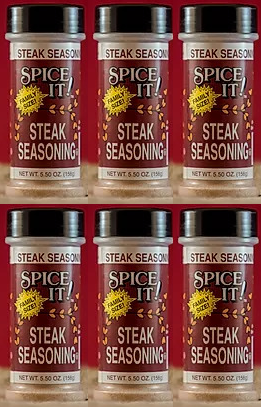 Spice It Family Size Steak Seasoning, 5.5 oz (Pack of 6)