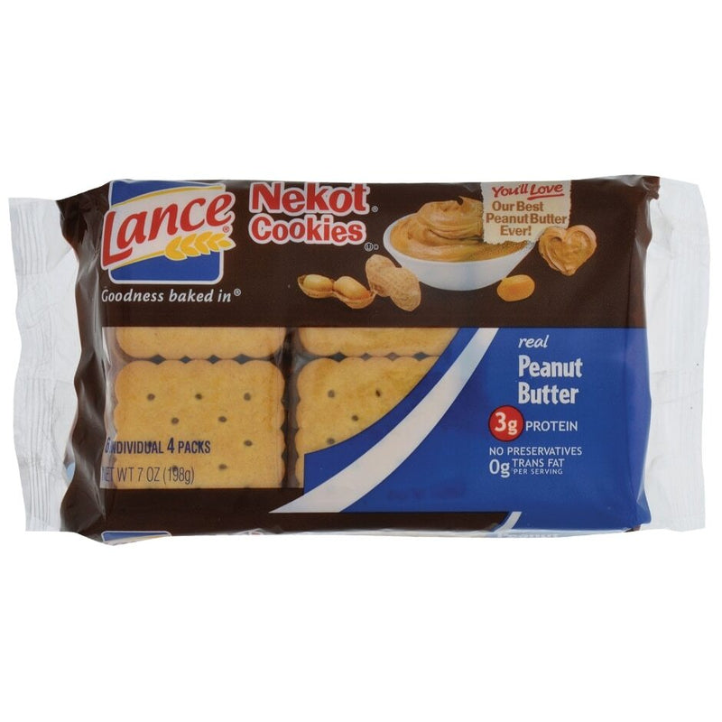 Lance Real Peanut Butter Sandwich Crackers, 5.6 oz