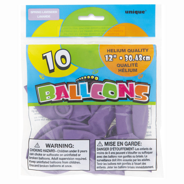 "12"" Helium Balloons Spring Lavender, 10-ct."