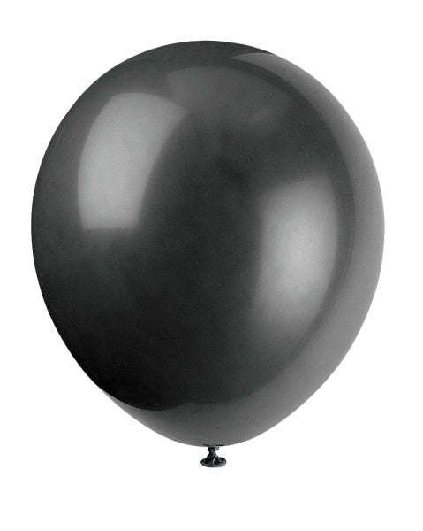 "12"" Helium Balloons Black With Polka Dots, 6-ct."