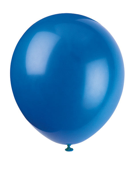"12"" Helium Balloons Royal Blue, 10-ct."