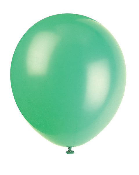 "12"" Helium Balloons Emerald Green, 10-ct."
