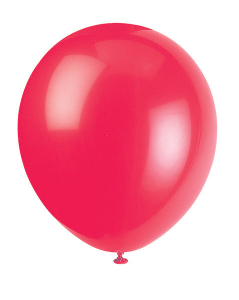 "12"" Helium Balloons Ruby Red, 10-ct."