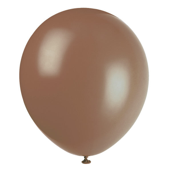 "12"" Helium Balloons Brown, 10-ct."