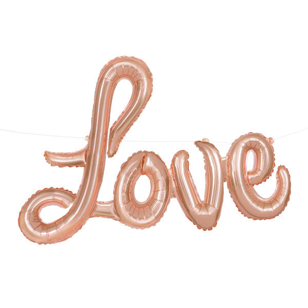 """Love"" Pink Balloon Banner Kit"