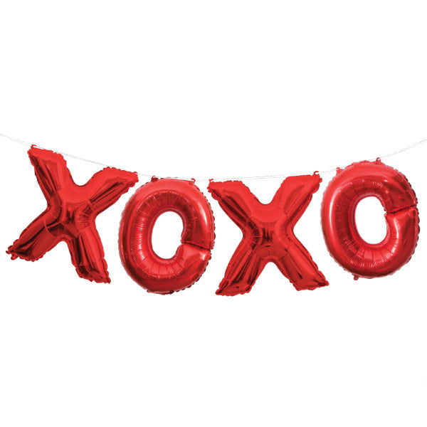 """XOXO"" Red Balloon Banner Kit"