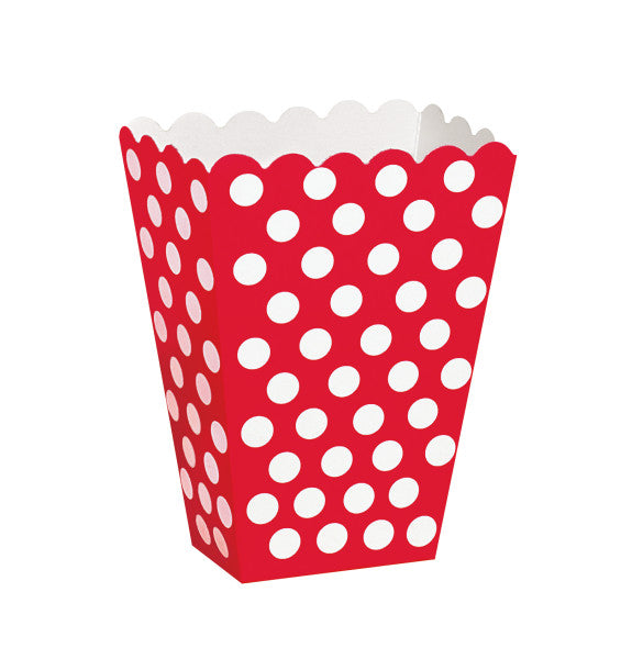 Treat Boxes Red With White Dots, 8-ct.