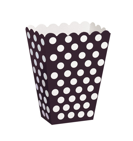 Treat Boxes Black With White Dots, 8-ct.