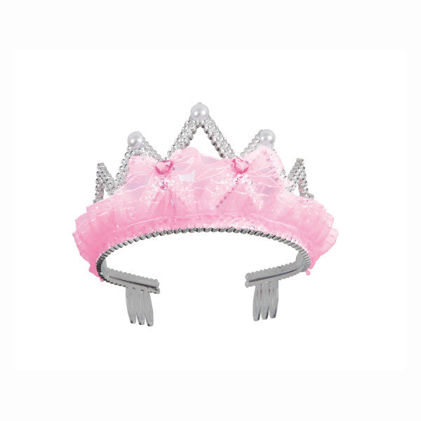 Pink Crown Jewel Pearl Bow Tiara
