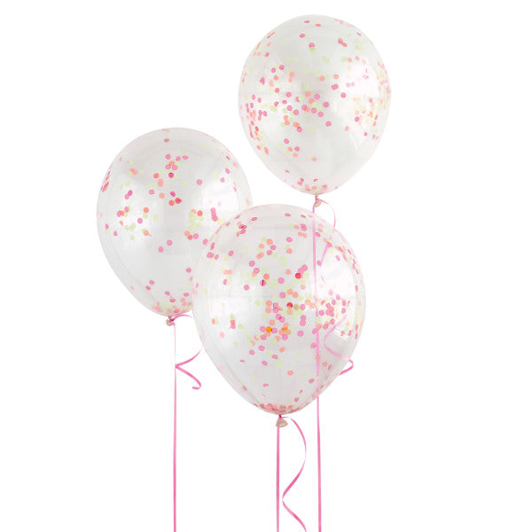 "12"" Helium Confetti Balloons Clear With Glow In The Dark Confetti, 6-ct."