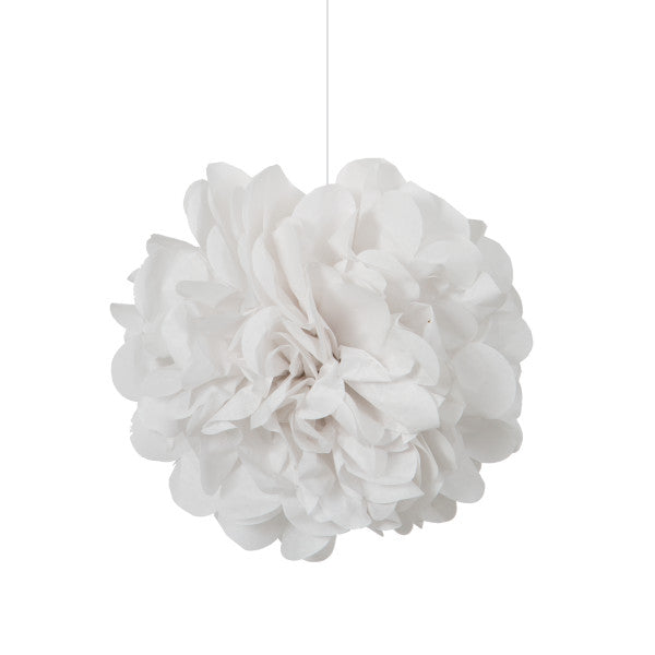 "9"" Mini Puff Balls White Decorations, 3-ct."