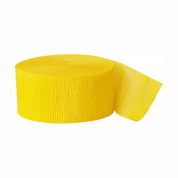 Party Streamer Yellow, 81 ft. x 1.75 in.