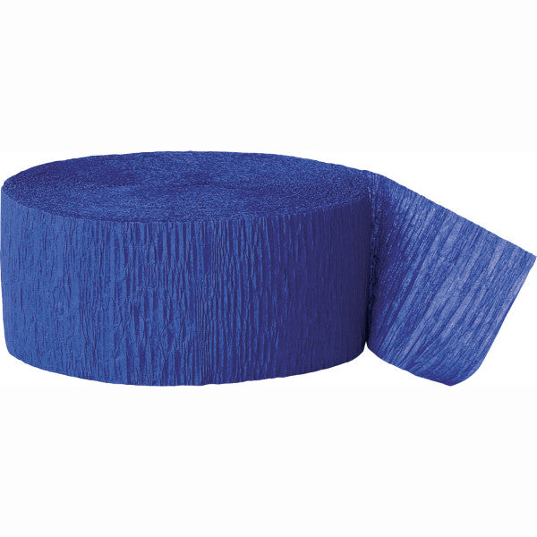 Party Streamer Royal Blue, 81 ft. x 1.75 in.