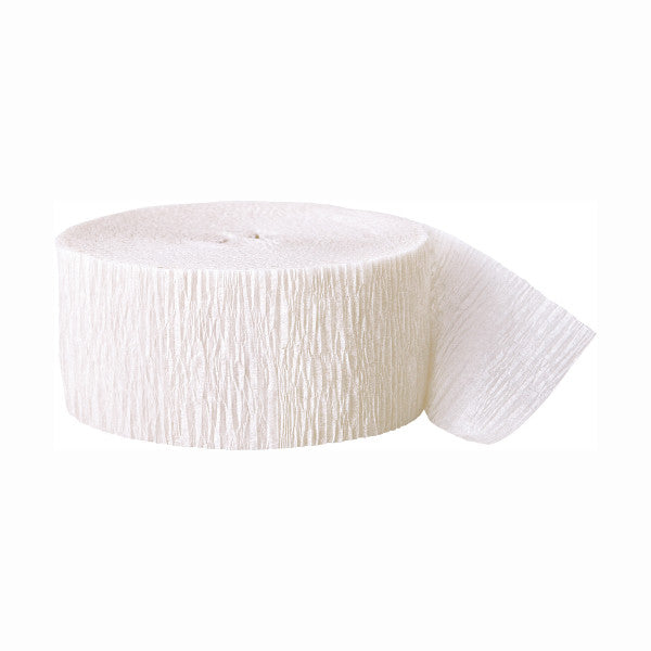 Party Streamer White, 81 ft. x 1.75 in.