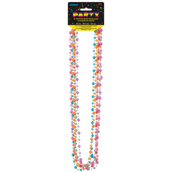 "32"" Crystal Bead Necklaces, 6-ct."