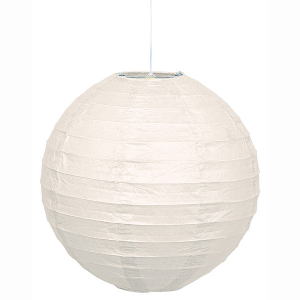 "10"" Large Paper Lantern White Decorations, 1-ct."