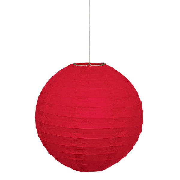 "10"" Large Paper Lantern Red Decorations, 1-ct."