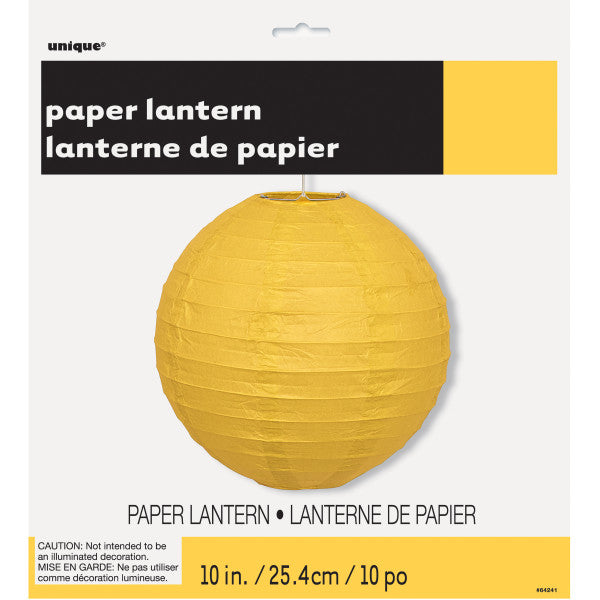 "10"" Large Paper Lantern Yellow Decorations, 1-ct."