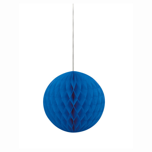 "8"" Honeycomb Ball Hanging Blue Decorations, 1-ct."
