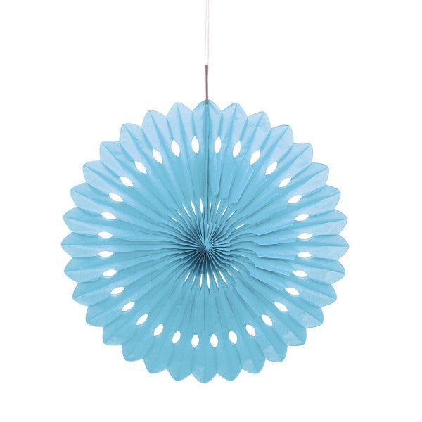 "16"" Decorative Fan Light Blue Decorations, 1-ct."