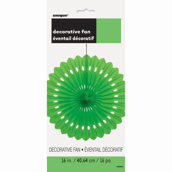 "16"" Decorative Fan Green Decorations, 1-ct."
