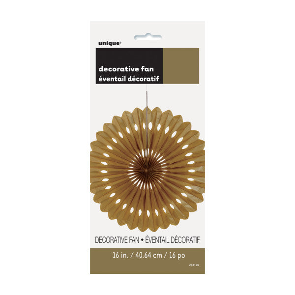 "16"" Decorative Fan Brown Decorations, 1-ct."