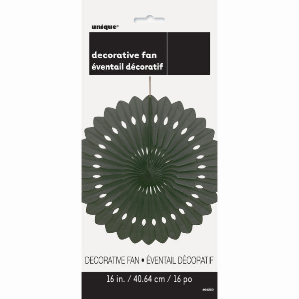 "16"" Decorative Fan Black Decorations, 1-ct."