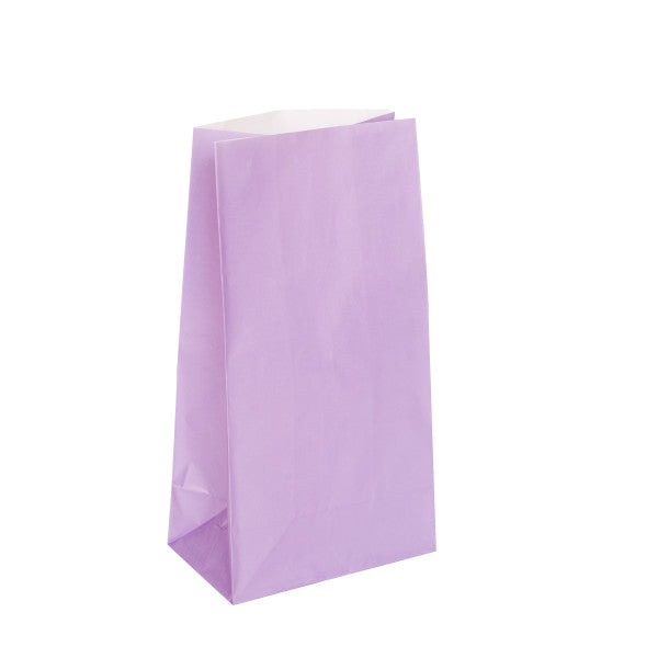 Lavender Paper Party Bags, 12-ct.