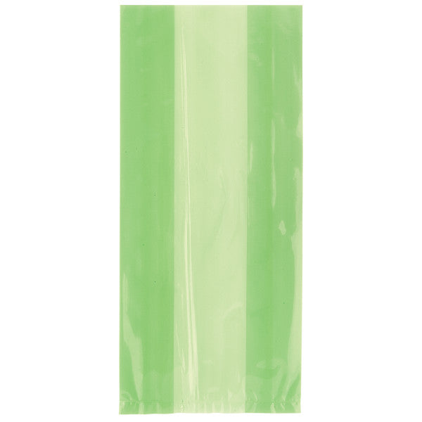 Green Cellophane Party Bags, 30-ct.