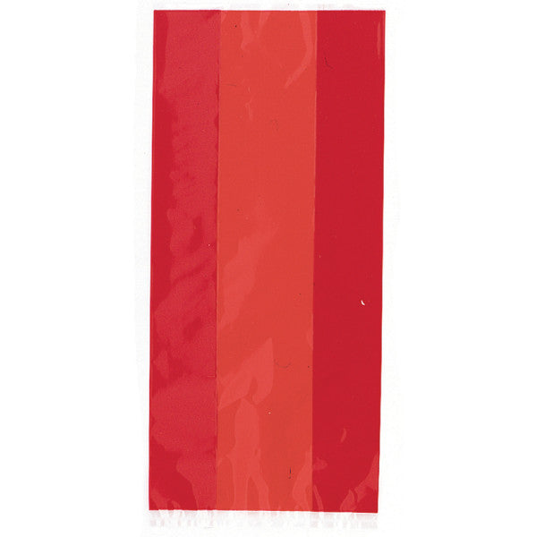 Red Cellophane Party Bags, 30-ct.