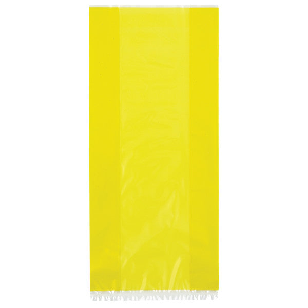 Yellow Cellophane Party Bags, 30-ct.