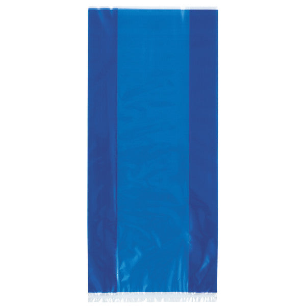 Blue Cellophane Party Bags, 30-ct.