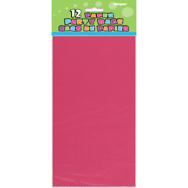 Party Paper Bags Sacs Pink, 12-ct.