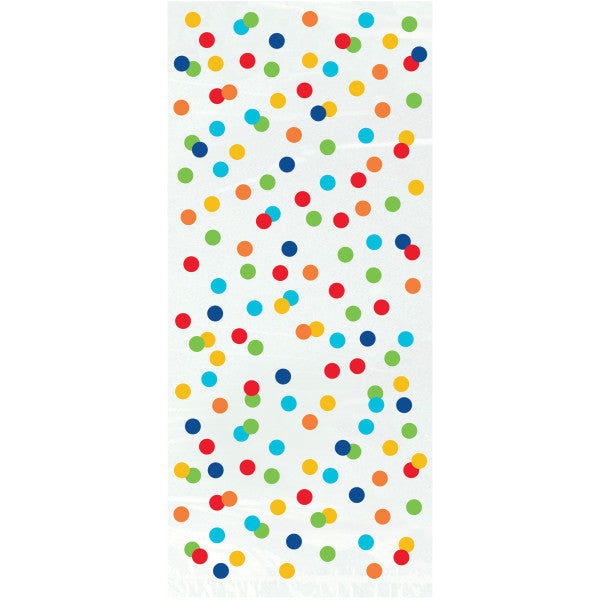Party Gift Bags White With Multicolor Polka Dots, 20-ct.