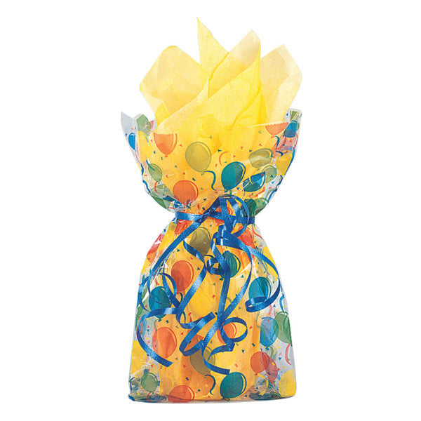 Party Gift Bags With Twist Ties Birthday Balloons Colorful Design, 20-ct.